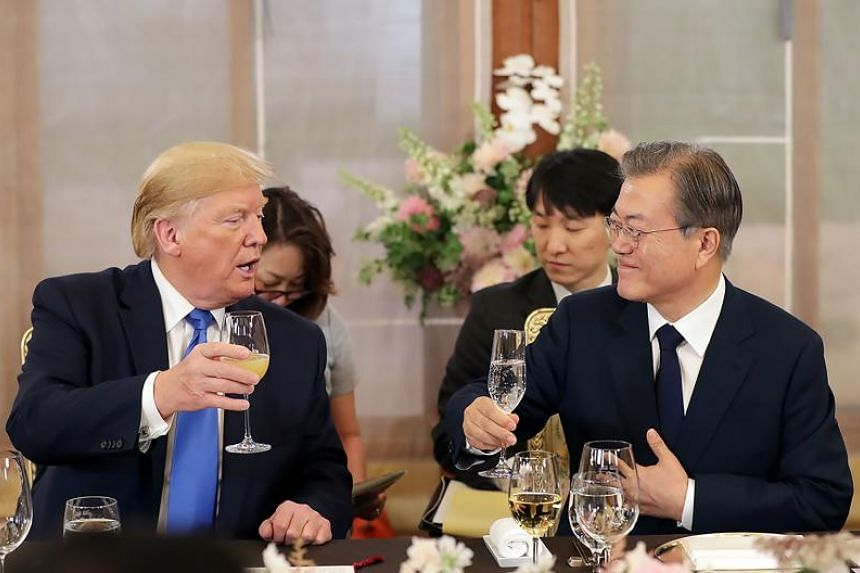 South Korean President Moon Serves Up Us Steak For Trump Ahead Of
