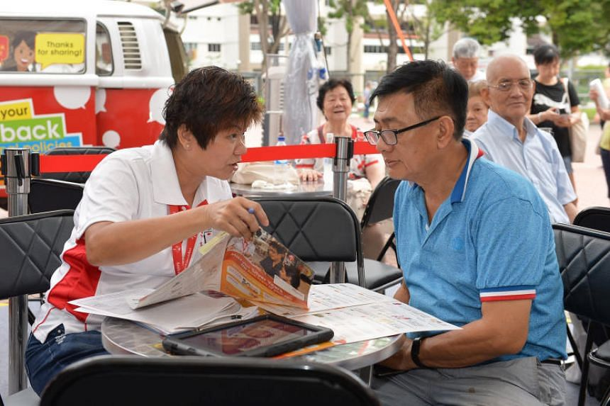 A Merdeka Generation (MG) Roadshow at Bukit Gombak Neighbourhood Centre on June 29, 2019, which featured booths set up by various organisations to showcase programmes and activities to MG residents to help them keep active.