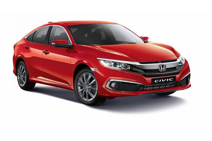 Honda's facelifted Civic.