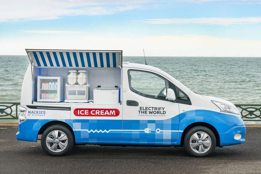 Electrifying ice-cream van.