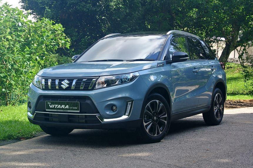 The new design of the Vitara's grille has six short vertical slates that look like they are radiating from the Suzuki logo and the instrument cluster gets a new full-colour LCD display between the speedometer and tachometer.