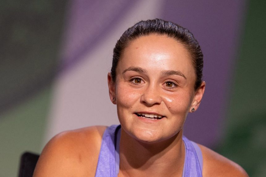 Ashleigh Barty addresses the media during a pre-Wimbledon press conference.