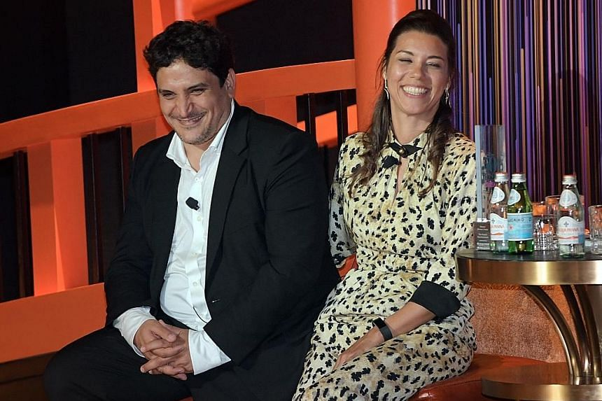 Chef Mauro Colagreco and his wife Julia at the award ceremony here.
