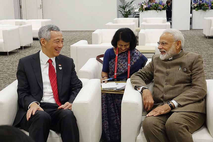 Prime Minister Lee Hsien Loong with Indian PM Narendra Modi. Both leaders discussed the excellent state of bilateral relations. PM Lee with Brazilian President Jair Bolsonaro. The two leaders welcomed recent milestones in bilateral relations. PM Lee