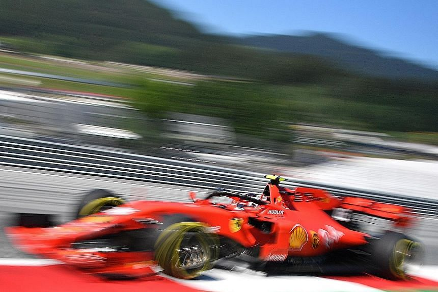 Ferrari's Charles Leclerc shut out Lewis Hamilton to take pole for today's Austrian Grand Prix with a new lap record in the final qualifying session yesterday.