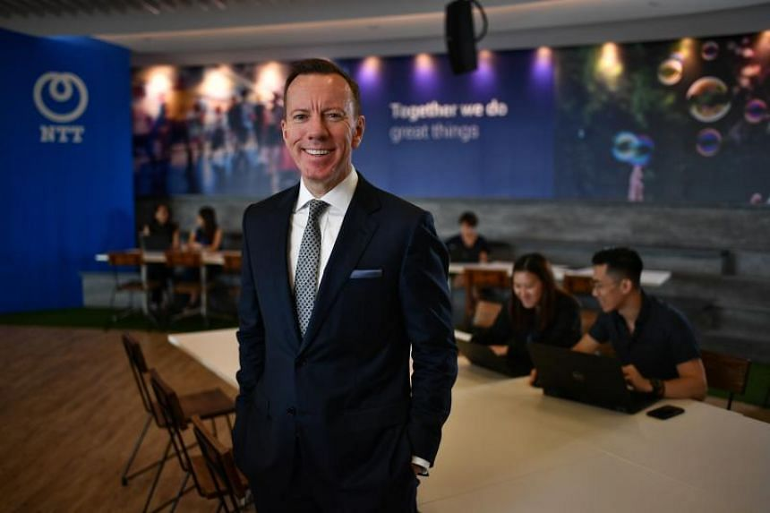 Mr John Lombard, the new CEO for NTT's global business in Asia Pacific, excluding Japan and Australia, said the firm is looking to hire here in the areas of robotic process automation and cybersecurity.