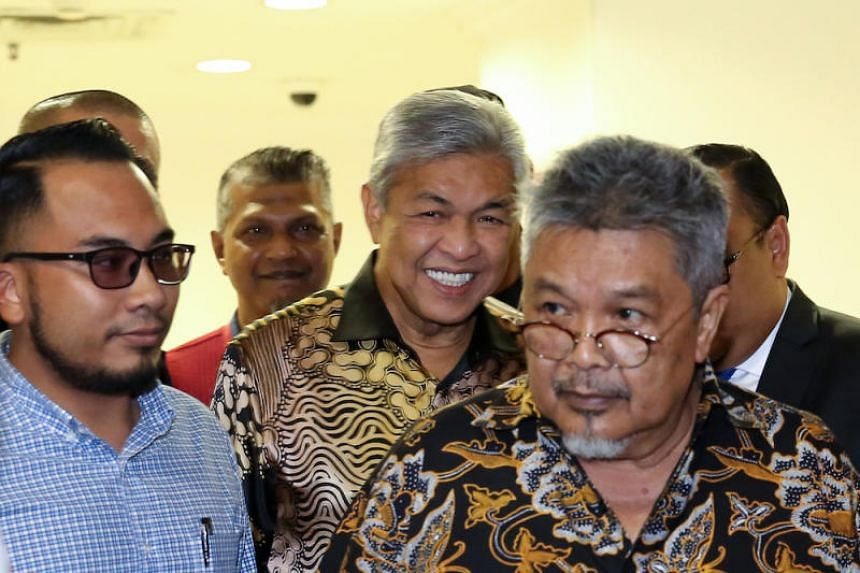Ahmad Zahid Hamidi was pressured to go on leave after 17 of Umno's 54 MPs left the party and he was charged with corruption and abuse of power. He said he would resume the leadership, on June 30, 2019.