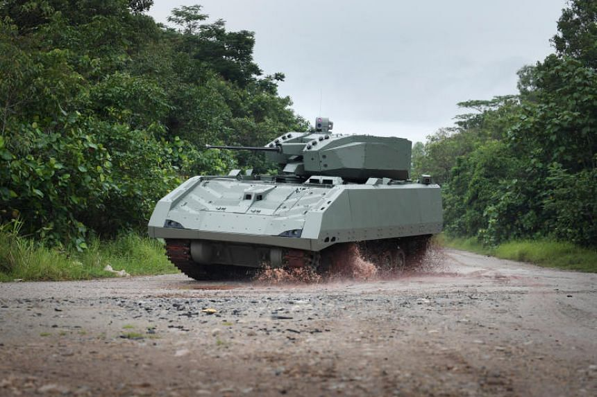 The new Hunter Armoured Fighting Vehicle, Singapore's first fully digital military vehicle, will make its NDP debut on Aug 9.