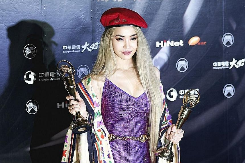 Taiwanese singer Jolin Tsai won awards for Album of the Year and Song of the Year.