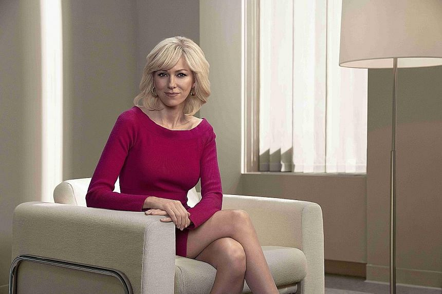 Naomi Watts plays journalist Gretchen Carlson, who in 2016 sued Fox News and Ailes for sexual harassment. Other women then filed similar suits, which helped kick-start the #MeToo movement.