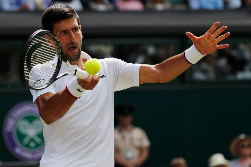 After a few early wobbles Novak Djokovic (above) triumphed 6-3 7-5 6-3 against Philipp Kohlschreiber.