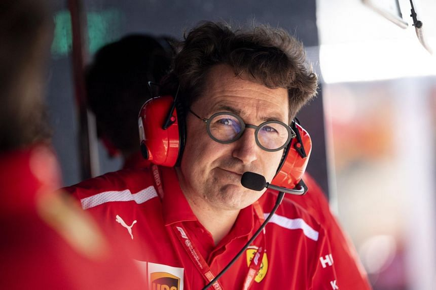 Scuderia Ferrari Formula 1 team principal Mattia Binotto at his team garage in the pit lane during the qualifying session of the Austrian Formula One GP at the Red Bull Ring circuit in Spielberg, Austria on June 29, 2019.
