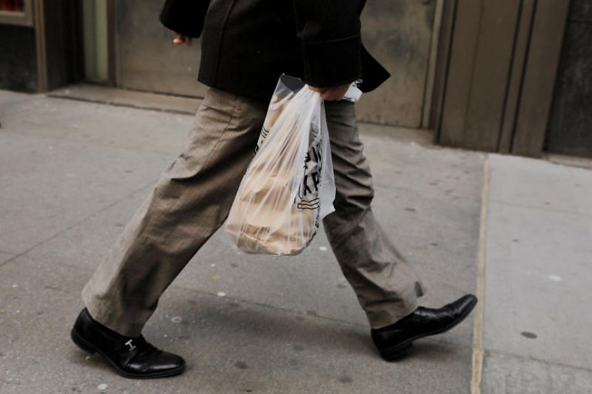 Single-use plastic shopping bags are defined as any plastic bag which has handles and is less than 70 microns thick.