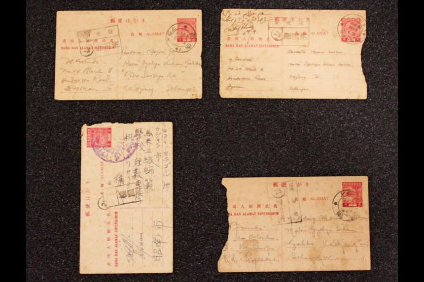 A set of four postcards which highlights the correspondence between literary pioneers Mr Muhammad Ariff Ahmad and Mr Masuri S.N. during the Japanese Occupation.
