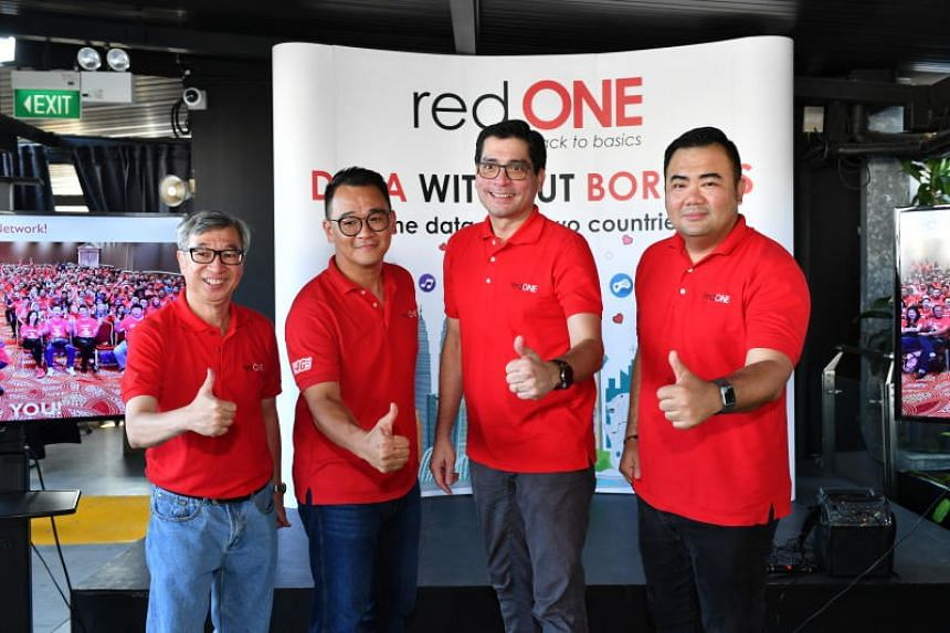redONE Singapore's three monthly plans range from $8 to $28, offering up to 10GB of mobile data.