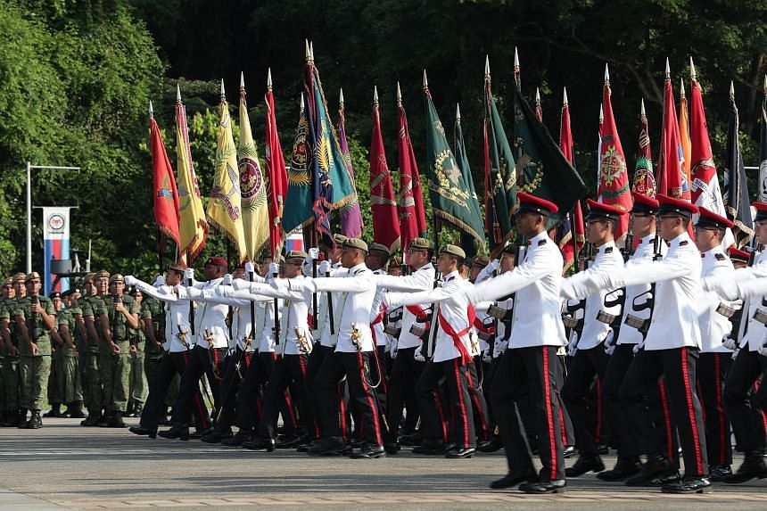 Yesterday's parade at Safti Military Institute saw over 3,000 servicemen reaffirming their commitment to Singapore's defence.