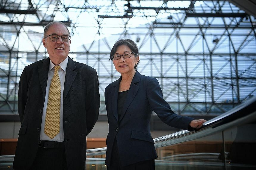 The International Institute for Management Development's Dr Bruno Lanvin, and Professor Chan Heng Chee from the Singapore University of Technology and Design. The Smart City Index is a joint effort between their organisations.