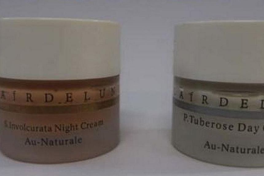 Warnings have been issued against D'Splendid Kidzema Cream (top) and Clair De Lune P. Tuberose Day Cream and Clair De Lune S. Involcurata Night Cream (above).