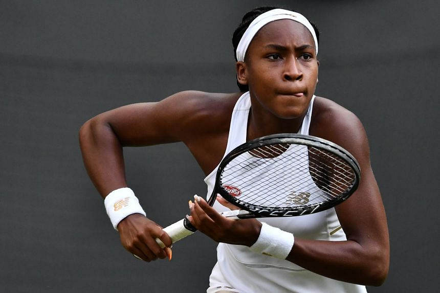 Cori Gauff (pictured) was the talk of the town on Monday (July 1) after beating her idol and five-time champion Venus Williams.