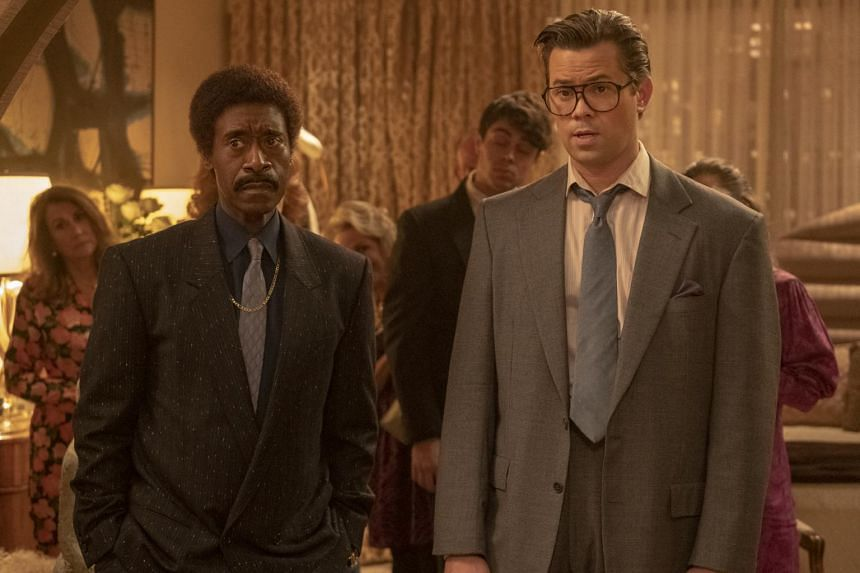 Don Cheadle (left) and Andrew Rannells in Black Monday.