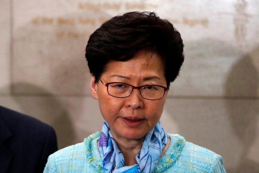 """Hong Kong Chief Executive Carrie Lam criticised the """"use of extreme violence and vandalism by protesters who stormed into the Legislative Council building""""."""