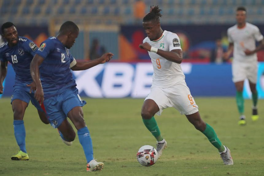 Ivory Coast's Wilfried Zaha in action during the Africa Cup of Nations Group C match against Namibia at the 30 June Stadium in Cairo on July 1, 2019.
