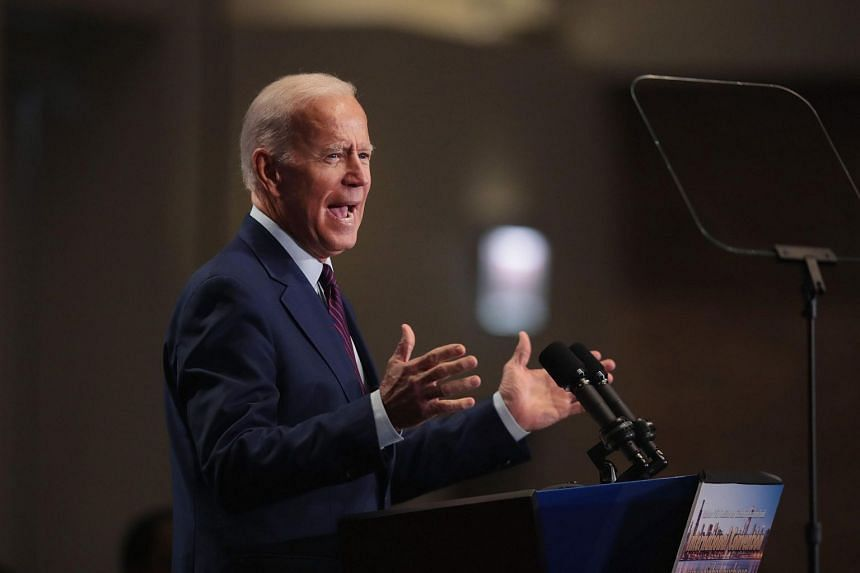 Joe Biden still polls the highest at 22 per cent among the two-dozen contenders for the Democratic nomination.