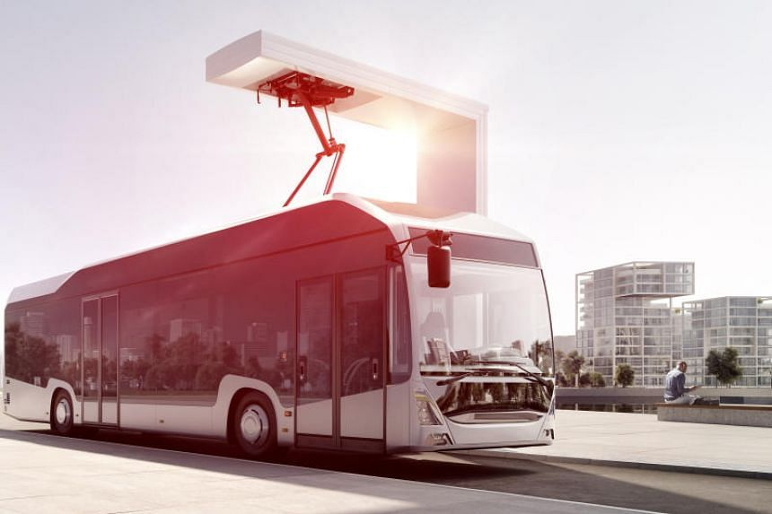 Swiss engineering group ABB will build an automated rooftop charging system for 20 single-deck electric buses supplied by ST Engineering.