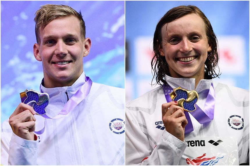 Seven-gold world champion Caeleb Dressel and five-time Olympic champion Katie Ledecky. alongside the US swim team will train primarily at the OCBC Aquatic Centre from July 9-16, 2019.