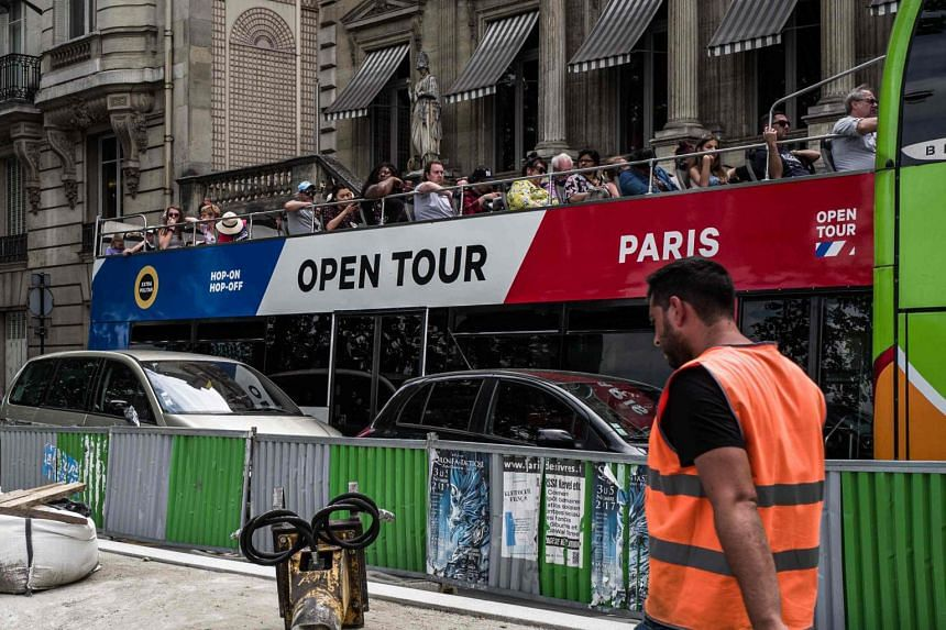 Paris deputy mayor Emmanuel Gregoire said that the situation in Paris was not as bad as in tourist-swamped Venice or Barcelona but Parisians were concerned about the influx of tourist buses.