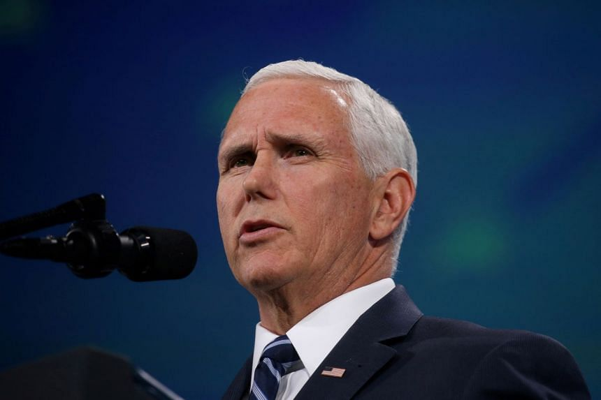 """A representative of Pence (above) told an audience in New Hampshire he had been """"called back"""" to Washington."""
