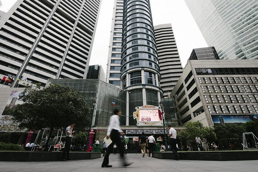 New supply of core CBD office space is estimated at 5.33 million sq ft between this year and 2022, representing an average of 1.36 million sq ft per year, 29 per cent below the 10-year average of 1.91 million sq ft, according to UOB Kay Hian Research