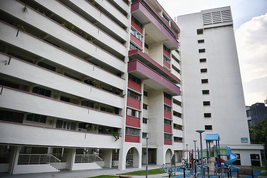The apartment block with the highest number of residents affected is Block 55 Chai Chee Drive, where 54 people have come down with dengue this year. ST PHOTO: ARIFFIN JAMAR