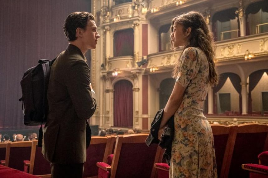 Tom Holland (left) stars as Peter Parker opposite Zendaya, who plays his classmate and love interest, in Spider-Man: Far From Home.