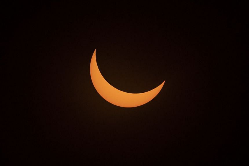 The eclipse as seen from the La Silla European Southern Observatory in Chile.