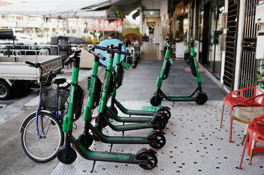 A check on Grab's app showed that its e-scooters are now available in four new areas.