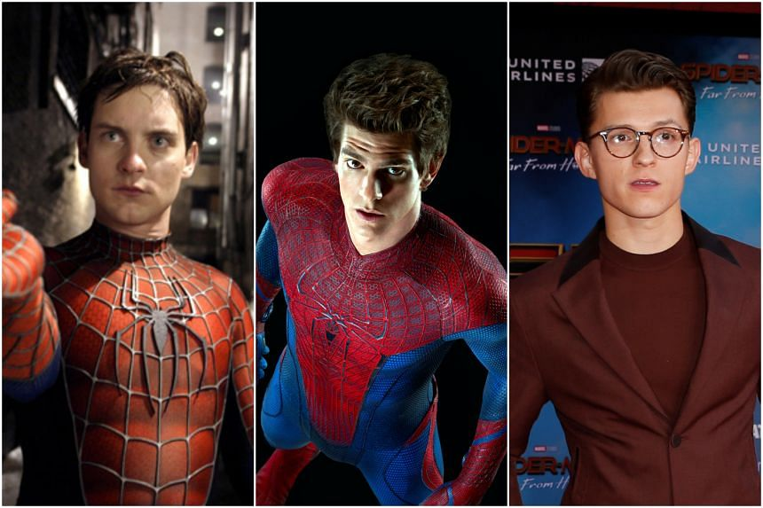 (From left): Tobey Maguire, Andrew Garfield and Tom Holland.