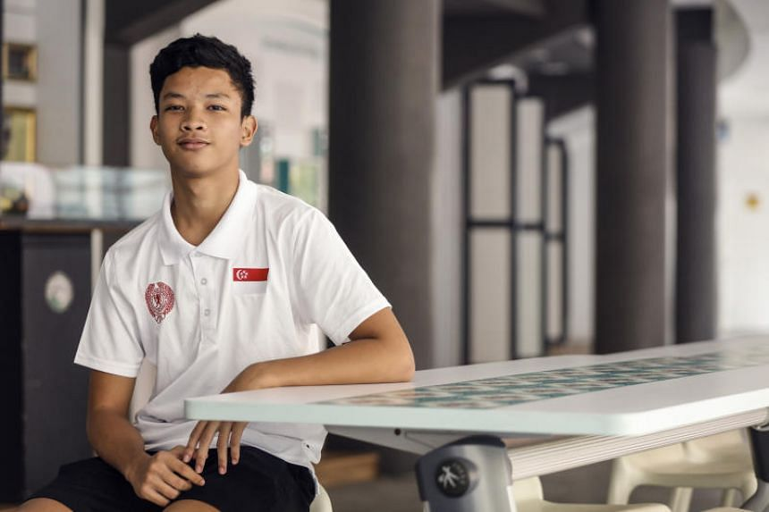 """Flagbearer Syed Mohd Khairulazizi recalled his debut last year to be """"pretty nerve-racking"""", and said he would help his teammates who may be experiencing similar nerves."""
