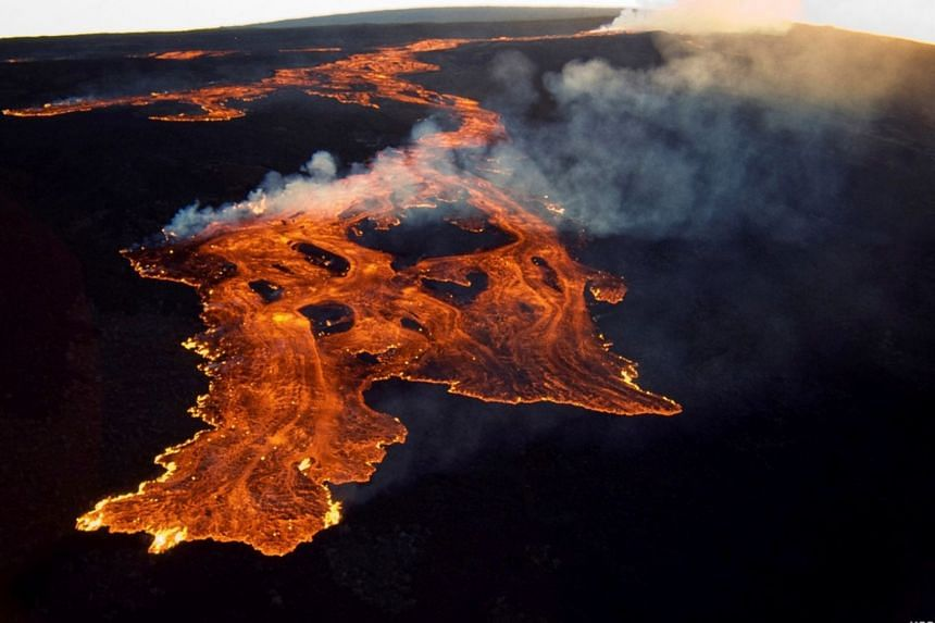 The Mauna Loa volcano on the island of Hawaii seen in a handout photo released on March 25, 1984, by the U. Geological Survey.
