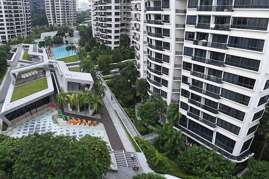 The owners of two units at D'Leedon, a condominium complex in the prime Tanglin district, had sought permission last year to install awnings at their ground-floor units, in response to a killer litter problem.