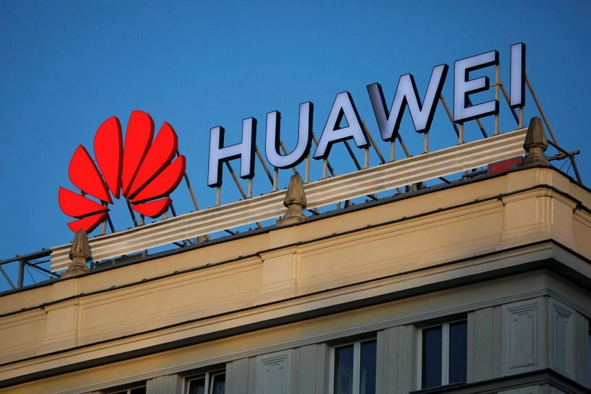 The Huawei logo pictured in central Warsaw, Poland, on June 17, 2019.