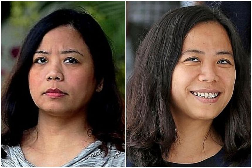 Twins Tang Bei (left) and Tang Lei had been fined for assaulting the staff of Simei Green condo in 2015. They claimed yesterday that the staff had provoked their attack, which was caught on video and went viral online.
