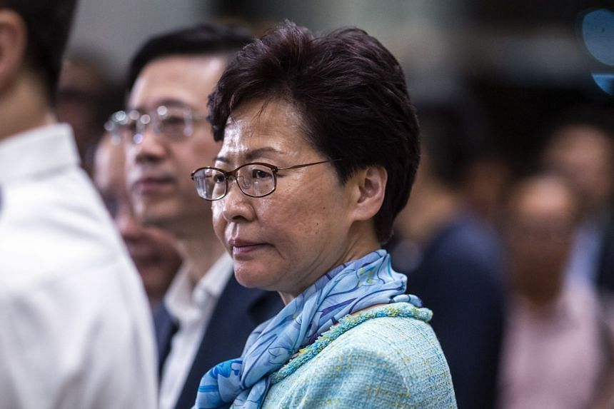 Chief Executive Carrie Lam at a news conference in Hong Kong on July 2, 2019.