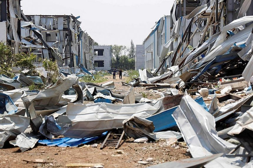 Houses in Kaiyuan damaged by a tornado that swept across China's Liaoning province on Wednesday. China's weather bureau on Tuesday said climate change could cause more extreme weather events, following floods, drought and extreme high temperatures in