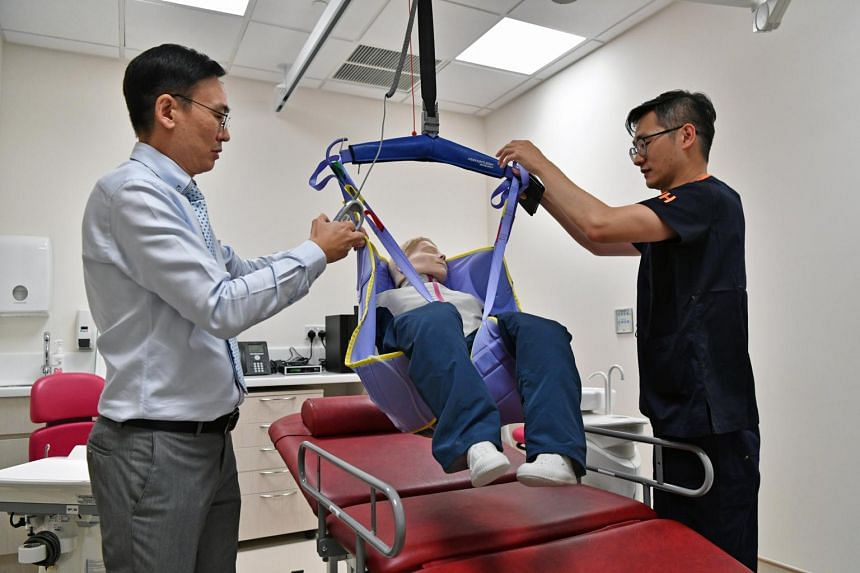 There is also a bariatric dental chair for patients who may not be able to be managed in a conventional dental chair due to weight issues.