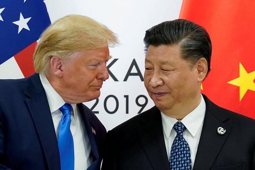 US President Donald Trump meets with China's President Xi Jinping at the G-20 summit in Osaka, Japan on June 29, 2019.