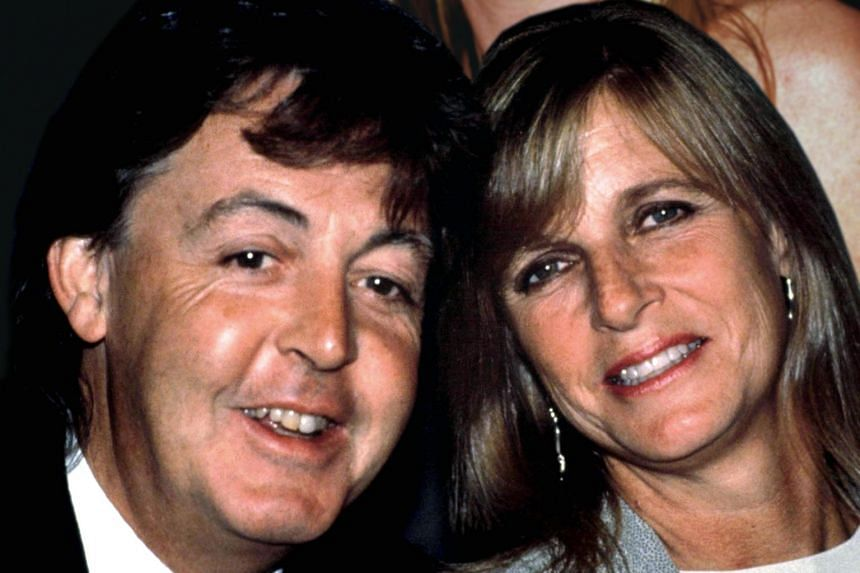 British singer Paul McCartney and his wife Linda in an undated photo. He told BBC Radio Scotland that he cried for a year after she died of breast cancer in 1998.