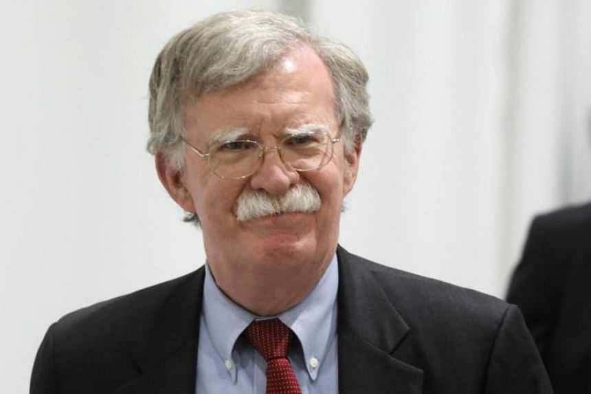 """White House national security adviser John Bolton said the British move was """"excellent news""""."""