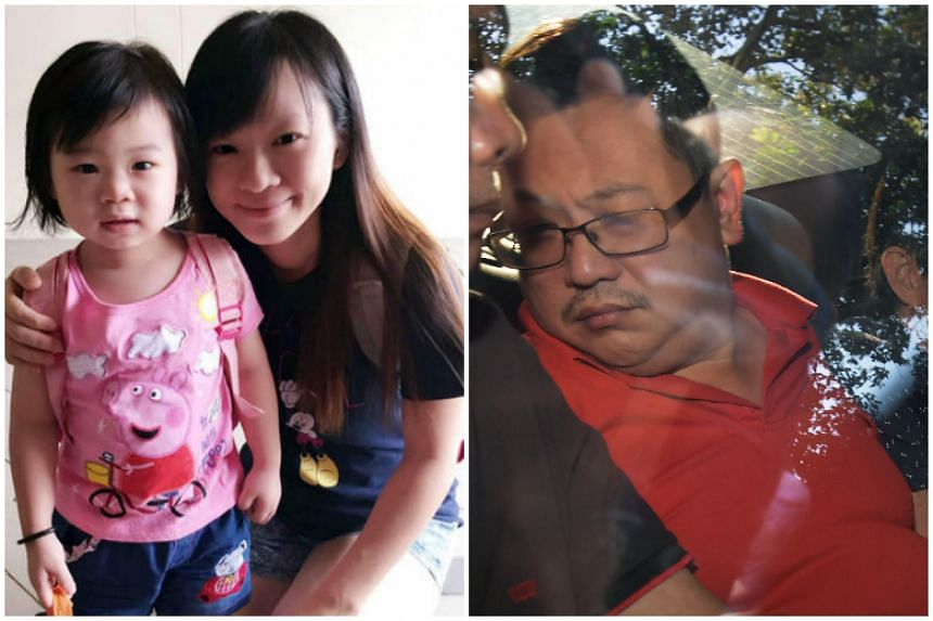 Teo Ghim Heng faces two counts of murder for strangling Madam Choong Pei Shan, 39, and the couple's daughter Zi Ning, at their Woodlands flat on Jan 20, 2017.