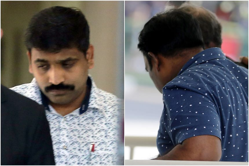 Kulamani Ganesan (left) and Manickavasagam Saravanan were linked to claims totalling $3,576.55 and $1,194.97 respectively.